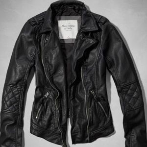 Abercrombie & Fitch Vegan Leather Jacket